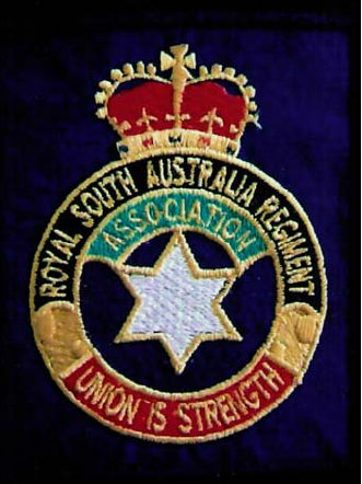 Royal Australia Regiment Association (RSARA) cloth pocket patch