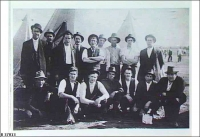 First men from Broken Hill to enlist, they became the original 10th Bn AIF (On Hawker's land) 1914.