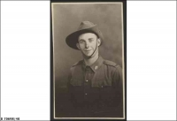 Pte Paul Andrew Pearson White SX8320, 2/43 Bn, KIA 12 Oct 1942 buried El Alamein (taken 1941)