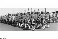 27th Bn (SA Militia) marching into camp at Fort Largs 1939