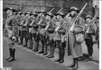 10th Bn of SA Militia on parade 1939
