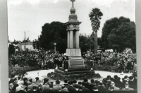 Catafalque Party, Vansittart Park & War Memorial Mt Gambier (Kevin Cram in kilt) ANZAC Day 1960