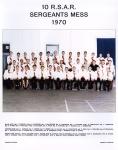 10 RSAR Sergeants Mess 1970